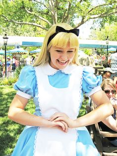 Carebear Alice (Hali also plays Carebear Wendy).  One of my favorite pictures of her!