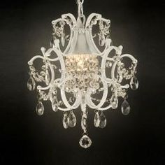 Crystal-and-Iron Five-Light Chandelier - Overstock™ Shopping - Great Deals on Otis Designs Chandeliers & Pendants