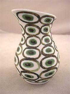 Stig Lindberg Cream Vase Pitcher Gustavsberg Fajance 1950's Early Rare Shape in Scandinavian Pottery | eBay