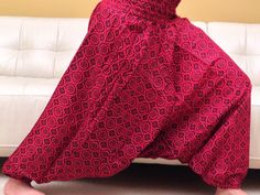 Tall 45 inches Spring Red baggy  yoga harem pants  by theBilvatree, $22.99 Yoga Harem Pants, Trending Outfits, Spring, Skirts, Red, Vintage, Etsy, Fashion, Moda