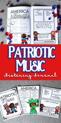 Easy to print listening worksheets on the music of the USA! Great for music class activities on America Elementary Music Lessons, Music Lessons For Kids, Music Lesson Plans, Singing Lessons, Singing Tips, Music Education Activities, Listening Activities, Music Classroom, Music Teachers