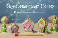 Pixie Dust Miniatures: Gingerbread Candy Village