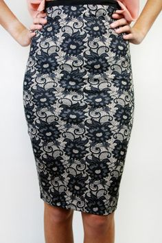 I love this skirt for more than just its name!  Bliss Floral Lace Pencil Skirt   Maude Boutique