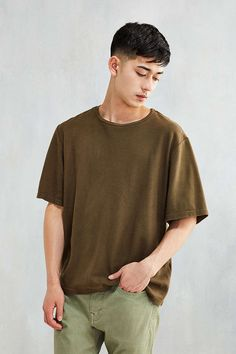 Monitaly Half-Sleeve Oversized Tee - Urban Outfitters