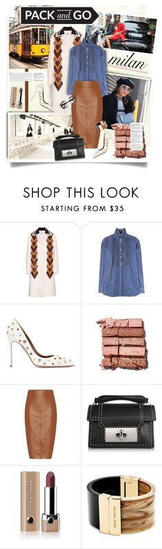 """""""Pack and Go: Milan"""" by hamaly ❤ liked on Polyvore featuring Miu Miu, Sonia Rykiel, Aquazzura, Bobbi Brown Cosmetics, Bailey 44, Marc Jacobs, Michael Kors, women's clothing, women and female"""