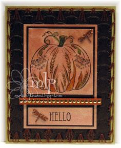 Prickley Pear Rubber Stamps:  Dandelion Pumpkin, Hibiscus 2 Clearly Beautiful Stamp Set