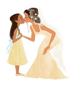 flower girl kiss -  Elisa Chavarri, via Flickr