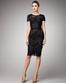 Dolce & Gabbana Spring 2012: Short-Sleeve Lace Dress