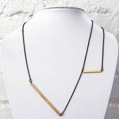 Balance Line Necklace. MYRRH Jewelry