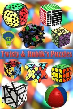 Twisty and Rubik's and Cube puzzles are the best puzzles of all times. You can find unique selection of rubix cube, V-cube, Marusenko Sphere, rotation puzzles, and many other twisty puzzles, at the highest quality.