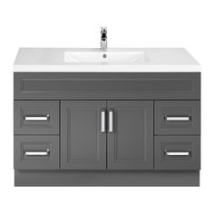 Cutler Kitchen & Bath URB Urban Collection Single Bowl Vanity with 2-in Top