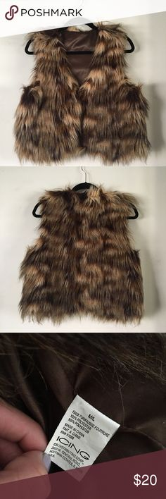 Icing Funky faux fur vest *great for festivals Rad funky fur vest Size m/l  Clips to clove vest on the inside In great condition  Brand:icing  Can be worn with several types of outfits   All offers are considered   Burning man, lightning in a bottle and desert hearts icing Jackets & Coats Vests