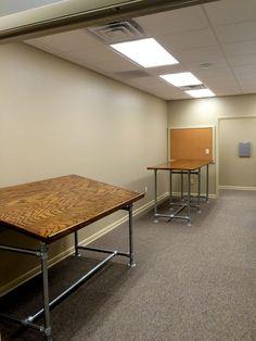 DIY Drafting Table Built with Kee Klamp  #DIY #KeeKlamp #draftingtable #pipetable