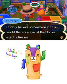 Gyroid Stitches, that's freakishly adorable! - Animal Crossing New Leaf