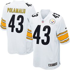 Nike Limited Mens Pittsburgh Steelers http://#43 Troy Polamalu White NFL Jersey$89.99