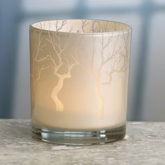 Biedermann and Sons Glass Forest Votive Candle Holder