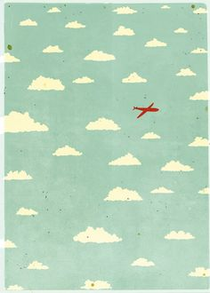 Duplicate this by wrapping cardboard with sky patterned fabric and attach and toy airplane to it. Cute decor for the boys room.