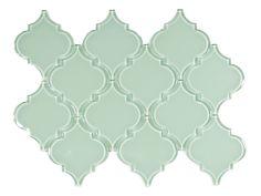 Surf Arabesque Glass Tile - Subway Tile Outlet