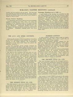 BMCRC Easter Meeting, Brooklands 1925 Part 2