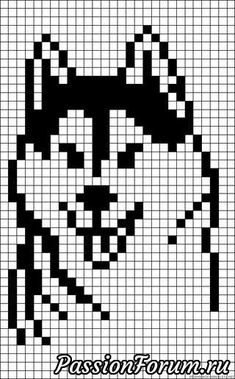 However, husky beads bead pattern – knitting charts Bead Loom Patterns, Beading Patterns, Cross Stitch Charts, Cross Stitch Patterns, Cross Stitching, Cross Stitch Embroidery, Modele Pixel Art, Graph Paper Art, Pixel Pattern