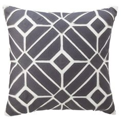 Nate Berkus for Target Gray Geometric Applique Pillow