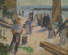 The mail boat arraiving. Galería Nacional de Dinamarca