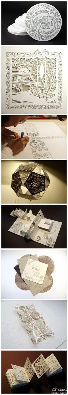 Paper cut works of Sara Burgess Kirigami, Up Book, Book Art, Paper Cutting, Papercut Art, Diy Paper, Paper Crafts, Paper Lace, Baby Dekor