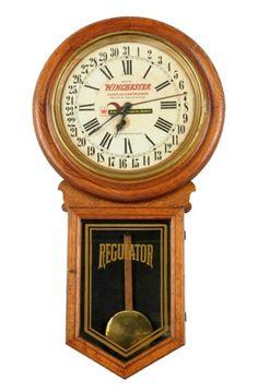 Rare Original Winchester Advertising Clock