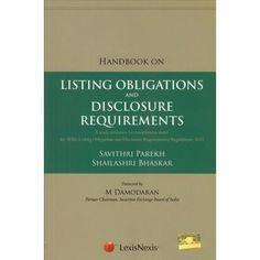 Lexis Nexis Handbook on Listing Obligations and Disclosure Requirements by SAVITHRI PAREKH & SHAILASHRI BHASKAR Edition : 2016