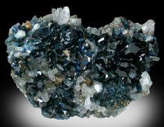Lazulite with Quartz from Crosscut Creek (Km 32), 70 km northwest of Aklavik, Yukon, Canada
