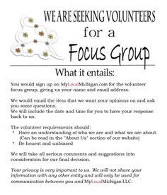 Seeking a Focus Group
