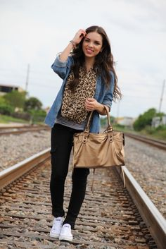 love all the layers, textures, prints.