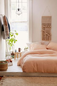 SELENCY : color block / apricot / chambre / bedroom / apricot bed / apricot detail