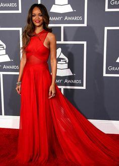 Rihanna Red Dresses
