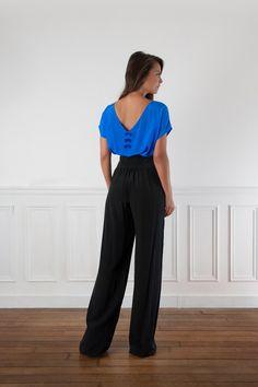 Pantalon pour la combinaison. Vue dos  Trop long ?