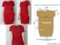 patron de robe à créer avec zip au dos - tutoriel gratuit et patron