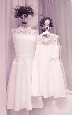 Trắng Mother Daughter Outfits, Mom Daughter, I Dress, Baby Dress, Girls Dresses, Flower Girl Dresses, Mom Outfits, Lovely Dresses, Mom And Baby