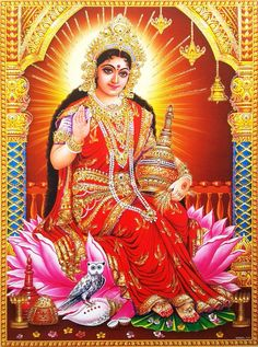 Prints, Posters & Paintings, Hinduism, Religion & Spirituality, Collectibles Page 31 Lakshmi Photos, Lakshmi Images, Mother Goddess, Goddess Lakshmi, Durga Ji, Vaishno Devi, Bal Krishna, Beautiful Goddess, Beautiful Birds
