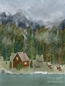 Deer Painting - Happy In The Wilderness by Bleu Bri