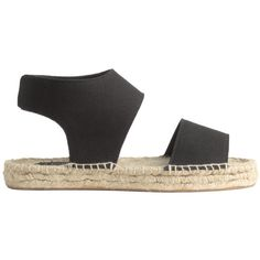 Espadrilles 24,99 (€27) ❤ liked on Polyvore featuring shoes, sandals, canvas sandals, canvas shoes, espadrille sandals, espadrille shoes and canvas espadrilles