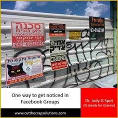 #ultrablog    #Israel   #facebookgroups    #visibility  You don't have to post a photo of a cat to get noticed in Facebook groups.  READ MORE: http://judyyaron2.wix.com/grannyalwayssays#!One-way-to-get-noticed-in-Facebook-Groups-is-to-/c1l60/563664870cf2833083280eb4  HUGS <3
