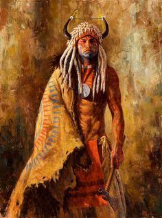Arikara Peacemaker | Arikara Warrior Painting | James Ayers