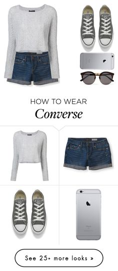 """Gris."" by oriana-valentina-444 on Polyvore featuring Aéropostale, ThePerfext, Converse, Illesteva and chic"