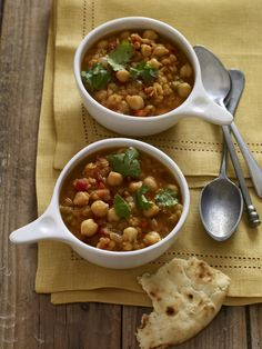 Lentil-Chickpea Chili #myplate #slowcooker #beans #fall