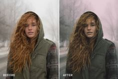 Before/after with one of the new Moody Lightroom Presets from Bleeblu.
