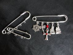 Custom Made  Outlander Inspired Kilt Pins With by TheMagpizeNest