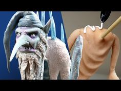 The Winter Warlock - Stop Motion Style Sculpture Process Wax Carving, Carving Tools, Sculpting Tutorials, Clay Tutorials, Polymer Clay Figures, An Elf, Baby Oil, Paint Set, Cool Art