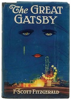 The Great Gatsby - F. Scott Fitzgerald. This is the original cover by Francis Cugat that was completed before the novel. FSF added to the story to incorporate the images from the cover.