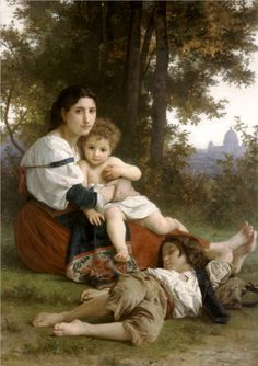 """Bouguereau """"Mother and Children"""" at the Cleveland Museum of Art"""