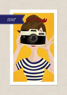 illustration by Melissa Eagan camera Art And Illustration, Illustrations Posters, Camera Illustration, Photography Illustration, Grafik Design, Cute Art, Pop Art, Art Drawings, Character Design